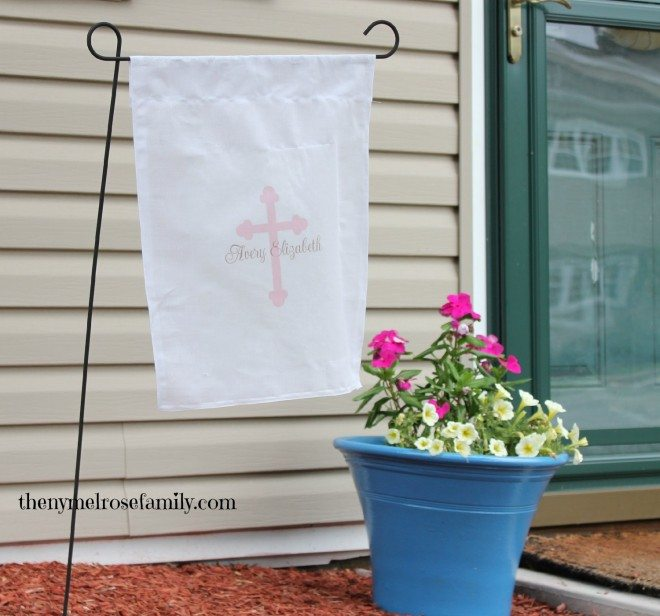 Garden Flag for Baptism