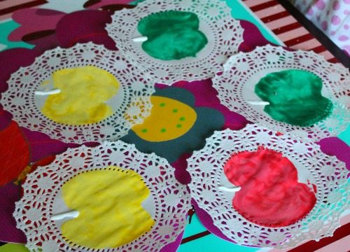 Harvest Apple Stamped Doilies