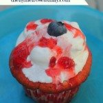 Strawberry Blueberry Cupcake with Strawberry Jam Topping