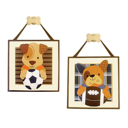 Sports Puppy Plaques The Melrose Family
