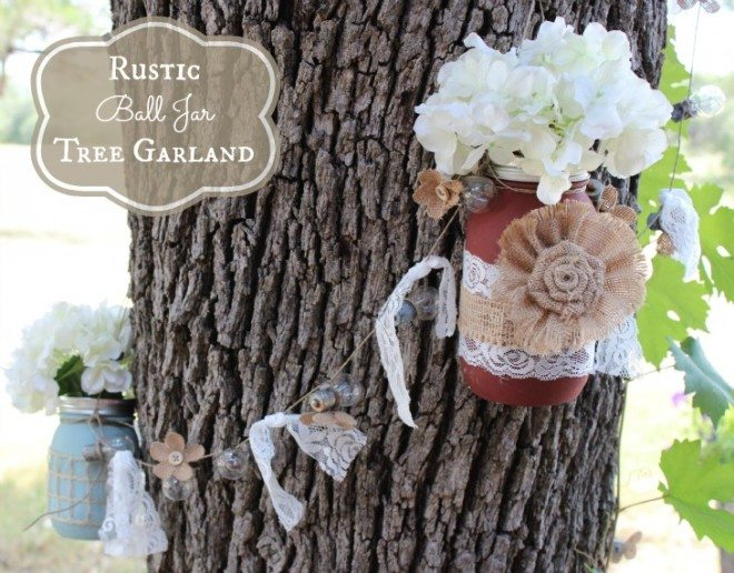 rustic ball garland