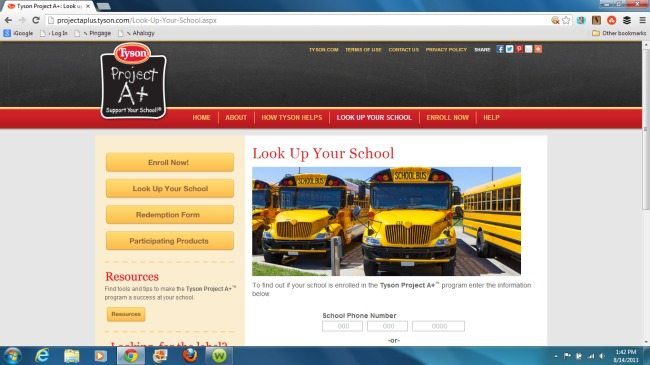 tyson enrollment screen