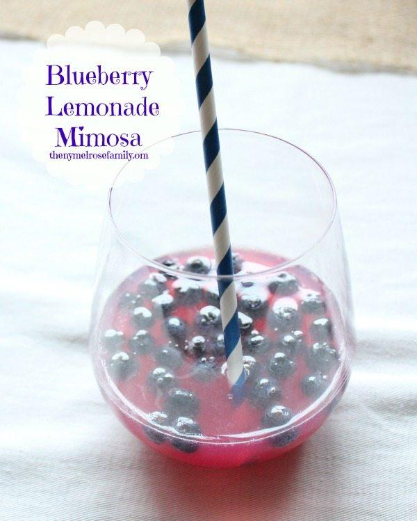 Blueberry Lemonade Mimosa