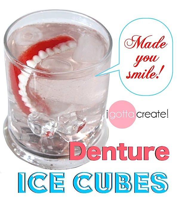 Denture Ice Cubes at I Gotta Create