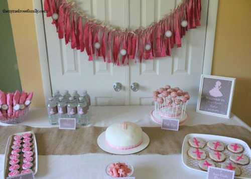 Dip Dyed Photo Backdrop over Dessert Table