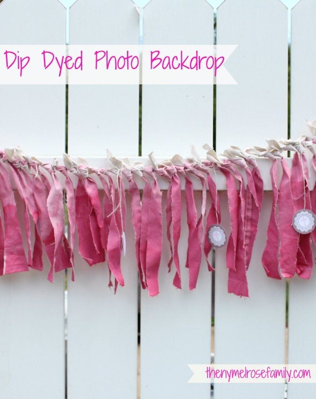 Dip Dyed Photo Backdrop