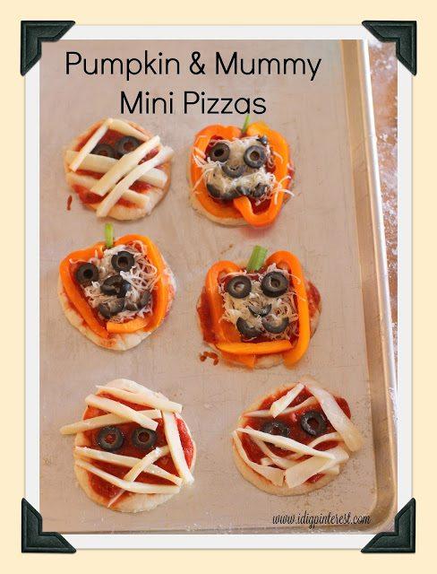 pumpkin mini pizzas