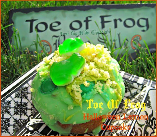 toe frog cupcake
