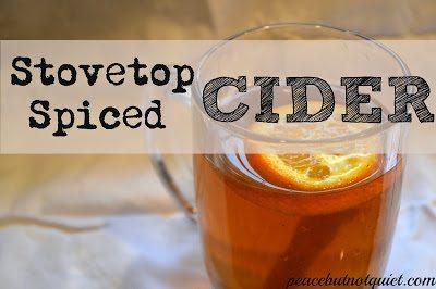 Stovetop Spiced Cider