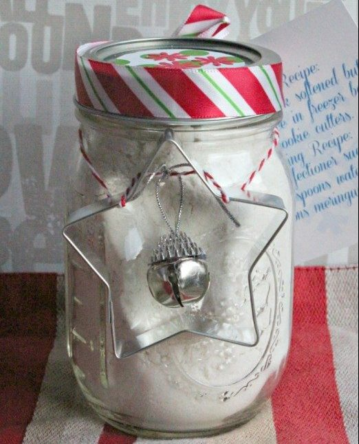 Christmas Cookie Recipe in a Mason Jar