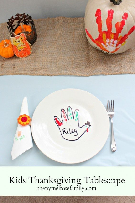 Kids Thanksgiving Tablescape
