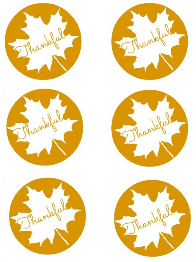 Thankful Gift Tag Printable