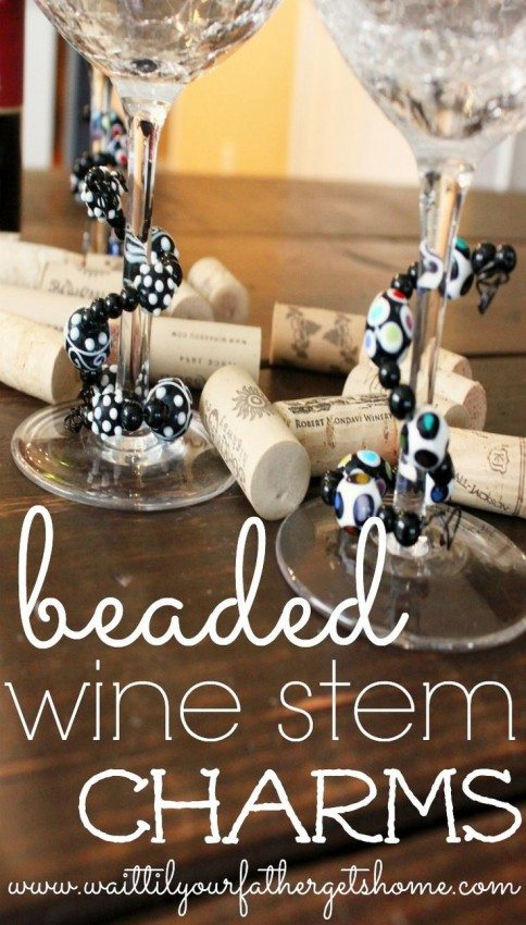 beaded wine stem