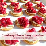 Cranberry cheese appetizers on a platter