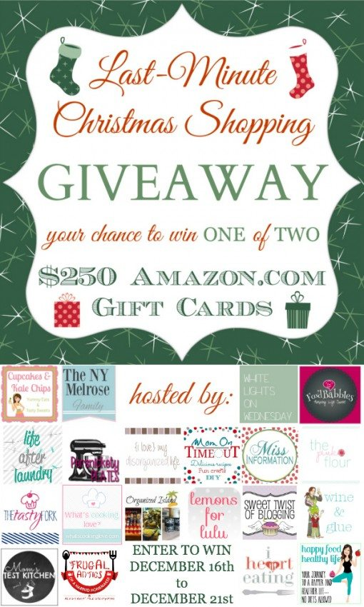Last Minute Christmas Shopping Giveaway vertical