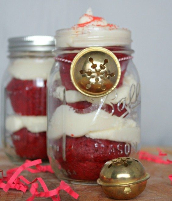 Two Jars of Mason Jar Peppermint Cupcake