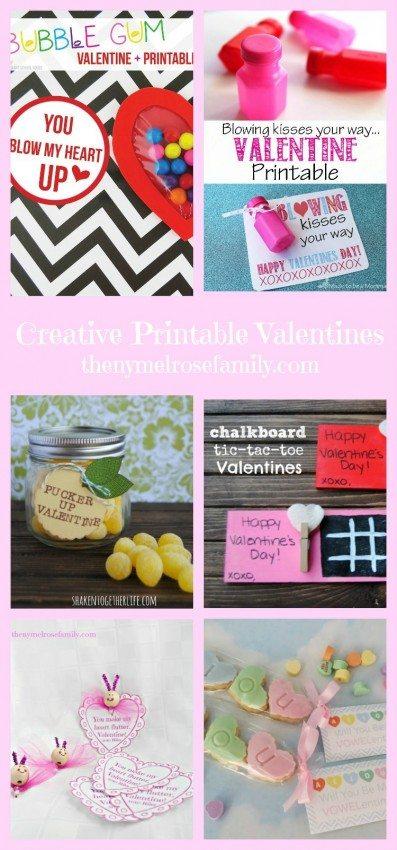 Creative Printable Valentines
