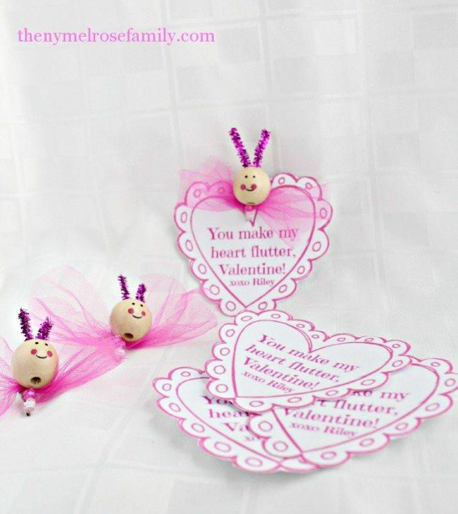 Butterfly Hair Clip Valentine
