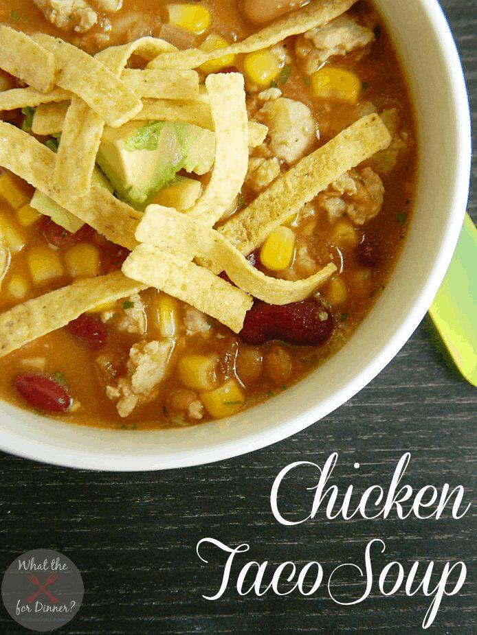 Chicken Taco Soup from the Ny Melrose Family via @jennymelrose