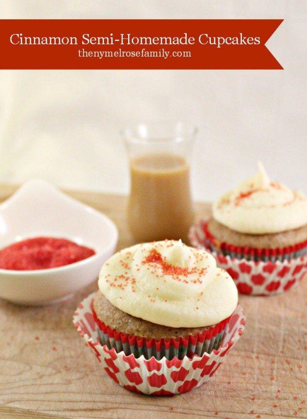 Cinnamon Semi Homemade Cupcakes