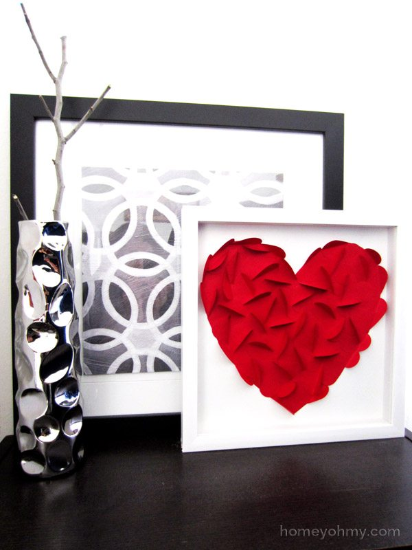 DIY Heart Wall Art - Top Valentines Day Gifts from The NY Melrose Family