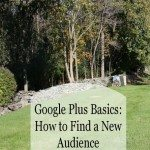 Google Plus Basics: How to Find a New Audience {6}
