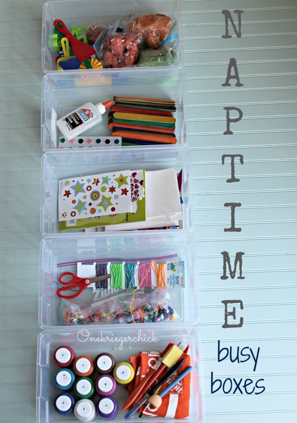 Naptime Busy Boxes {Onekriegerchick.com}