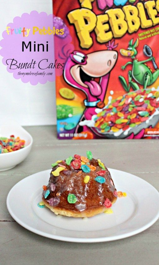 Fruity Pebbles Mini Bundt Cakes
