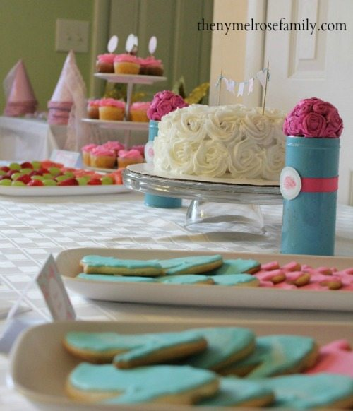 Shabby Chic Princess Party Dessert Table View 500