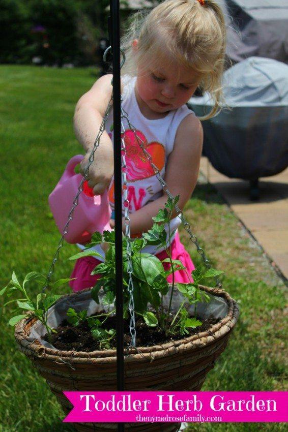 Toddler-Herb-Garden
