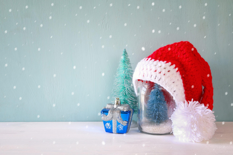 mason jar gifts with santa house