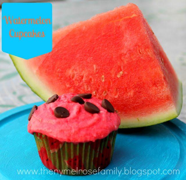 watermelon cupcakes