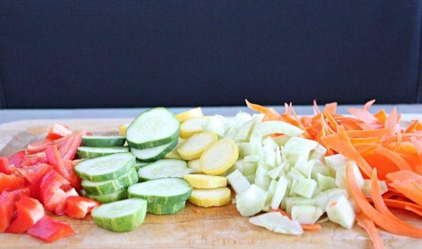Spring Vegetables for Pasta Salad Recipe