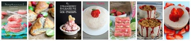Strawberry Desserts Collage