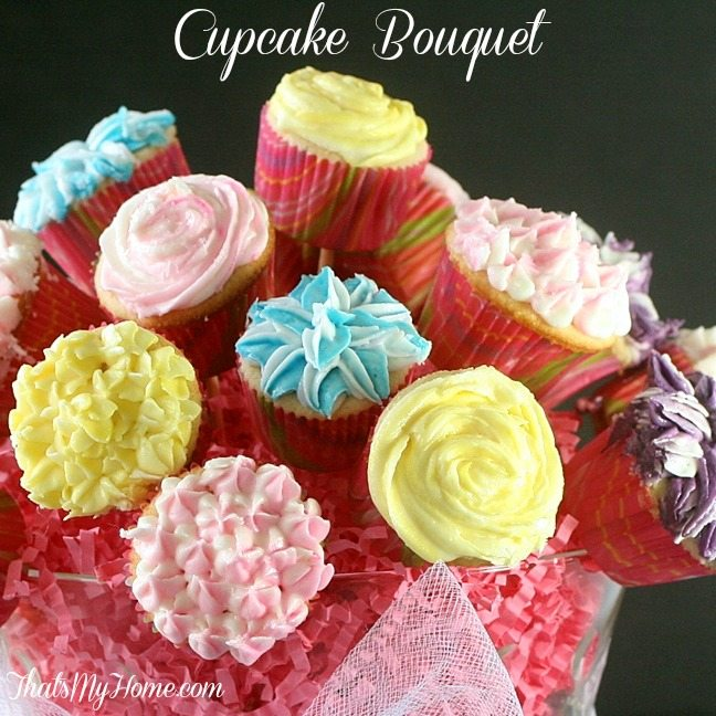 Flower Cupcakes for Cupcake Bouquet
