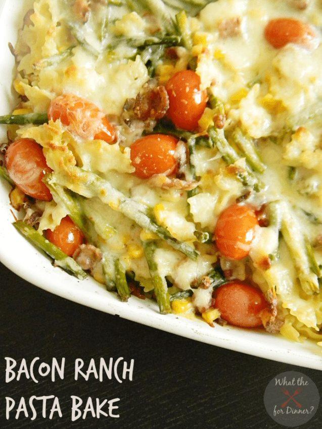 Bacon Ranch Pasta Bake