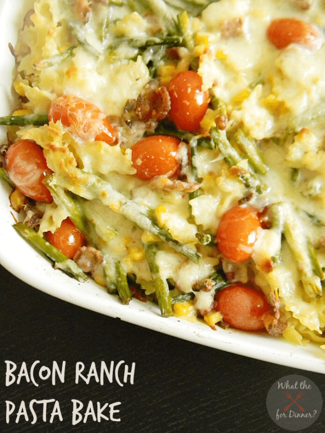 Bacon Ranch Pasta Bake