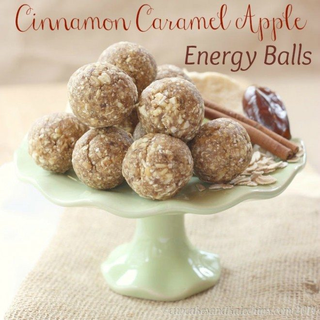 Cinnamon Caramel Apple Energy Balls