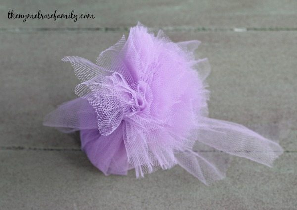 Tulle Pom Poms Final Step