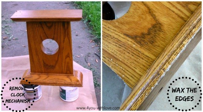 Wax before Chalk Paint Application
