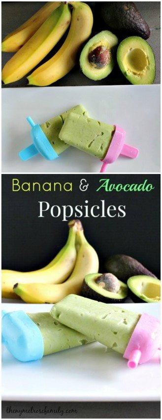 Banana & Avocado Popsicles