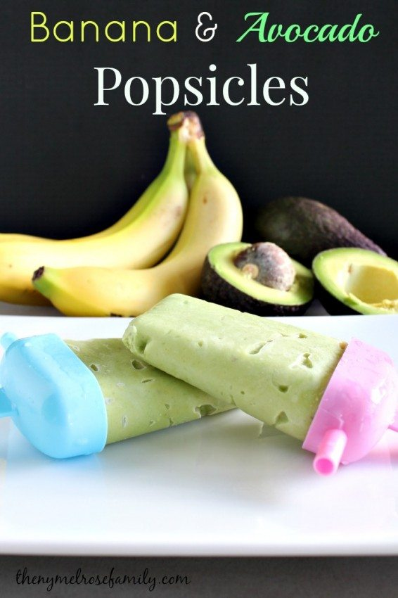 Banana & Avocado Popsicles - a fun frozen treat from The NY Melrose Family | cupcakesandkalechips.com | #glutenfree #dessert