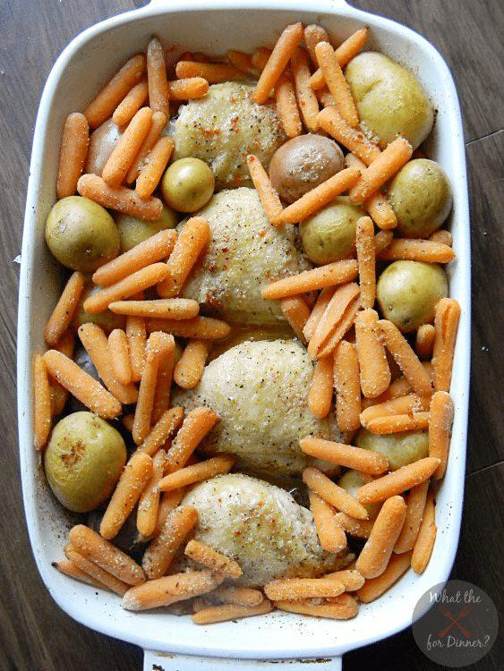 Italian Chicken Vegetable Bake from Mom's Test Kitchen