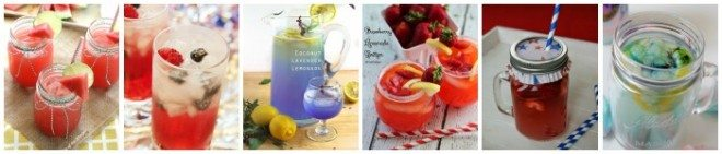 drink recipes collage