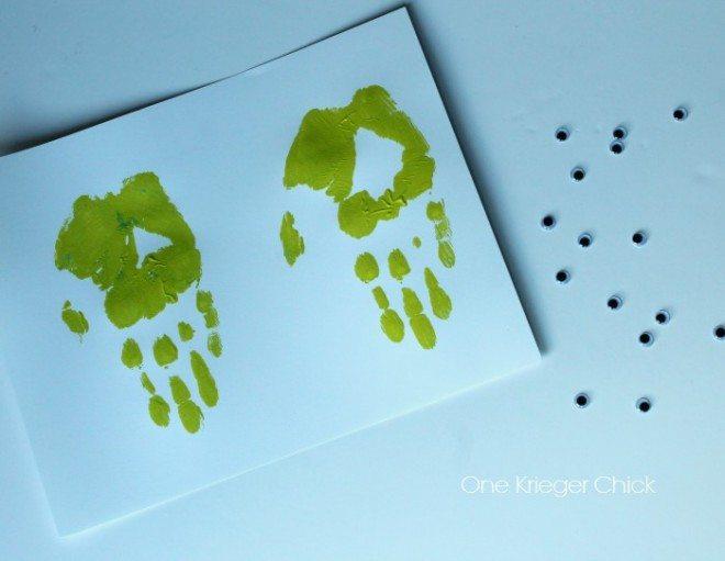 Jellyfish Bookmark Handprint Art