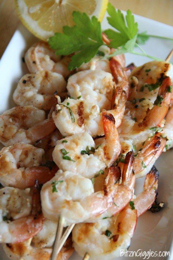 Grilled Shrimp: Lemon Basil
