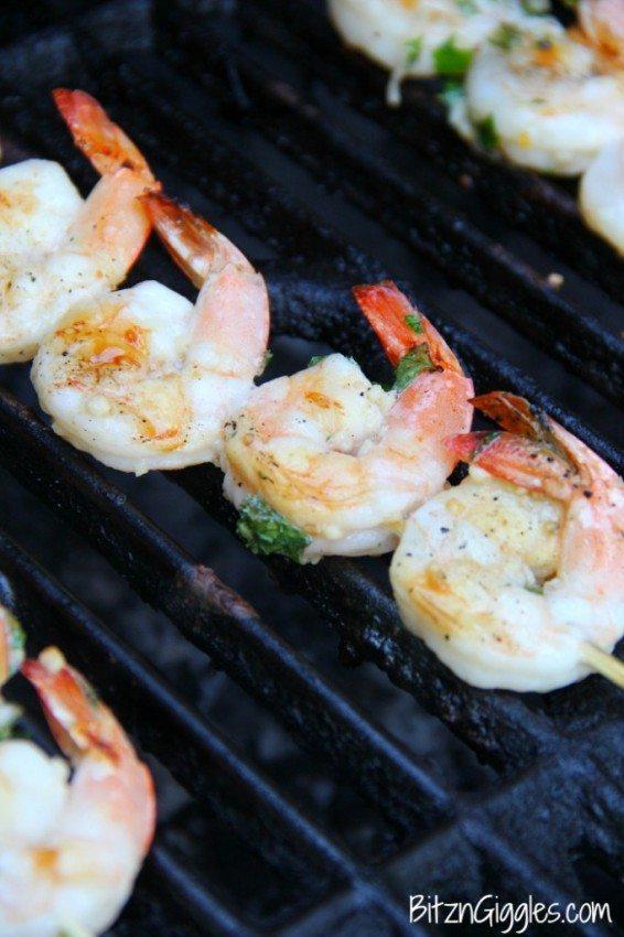 Lemon Basil Grilled Shrimp Appetizer