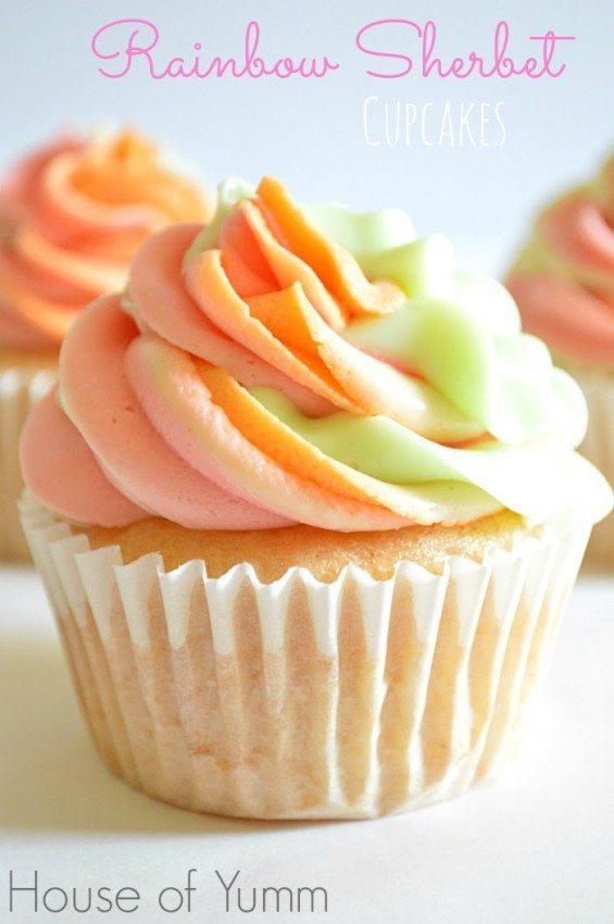 Rainbow Sherbet Ice Cream Cake Recipe