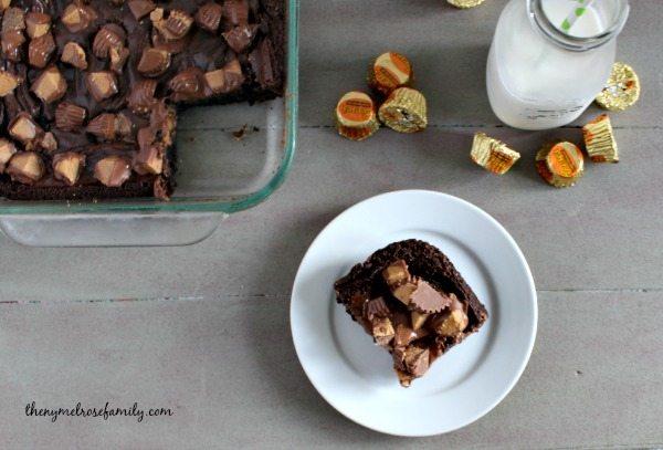 Peanut Butter Cup Fudge Brownies