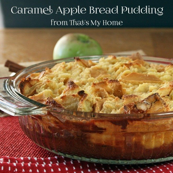 Spiced Caramel-Apple Bread Pudding Recipe — Dishmaps